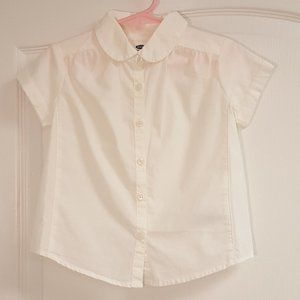 Old Navy White Collar Button Up Blouse